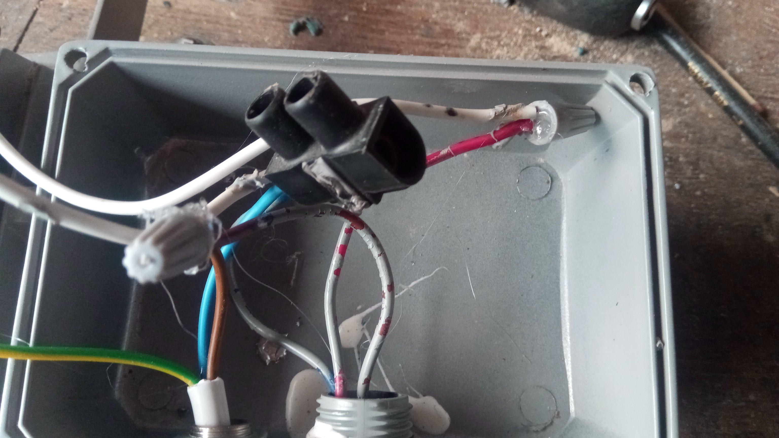 spot led - câblage refait isolé