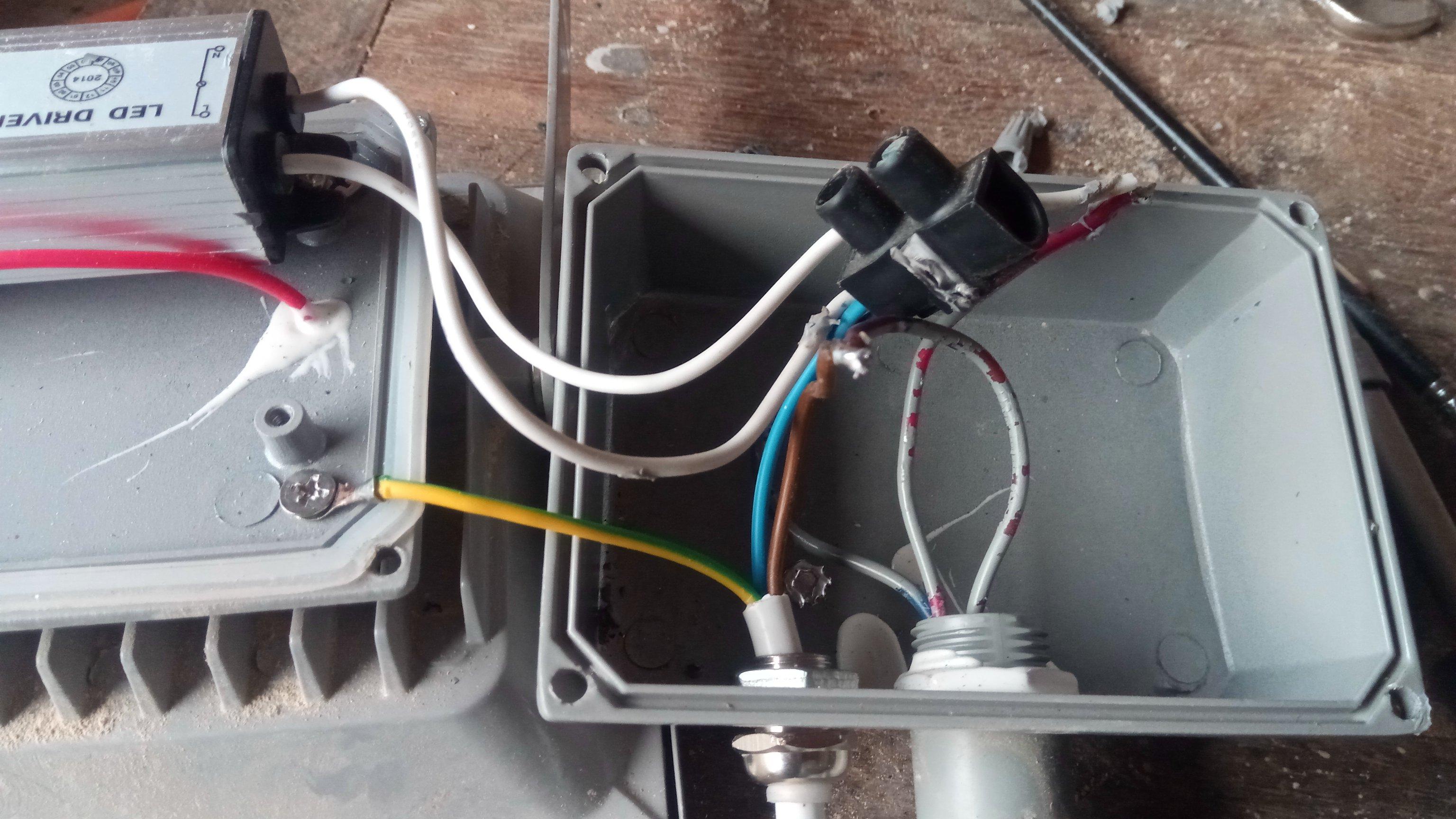 spot led - câblage refait